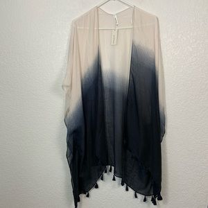 NWT Francesca's Dip Dy Swim Cover Up One Size